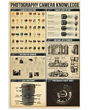 Photography Camera Knowledge 11x17 Poster front
