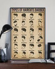 Types Of Haircuts Barber Hairdresser 11x17 Poster lifestyle-poster-2