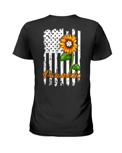 Paramedic Sunflower American Flag