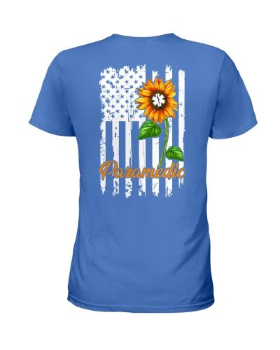 Paramedic Sunflower American Flag