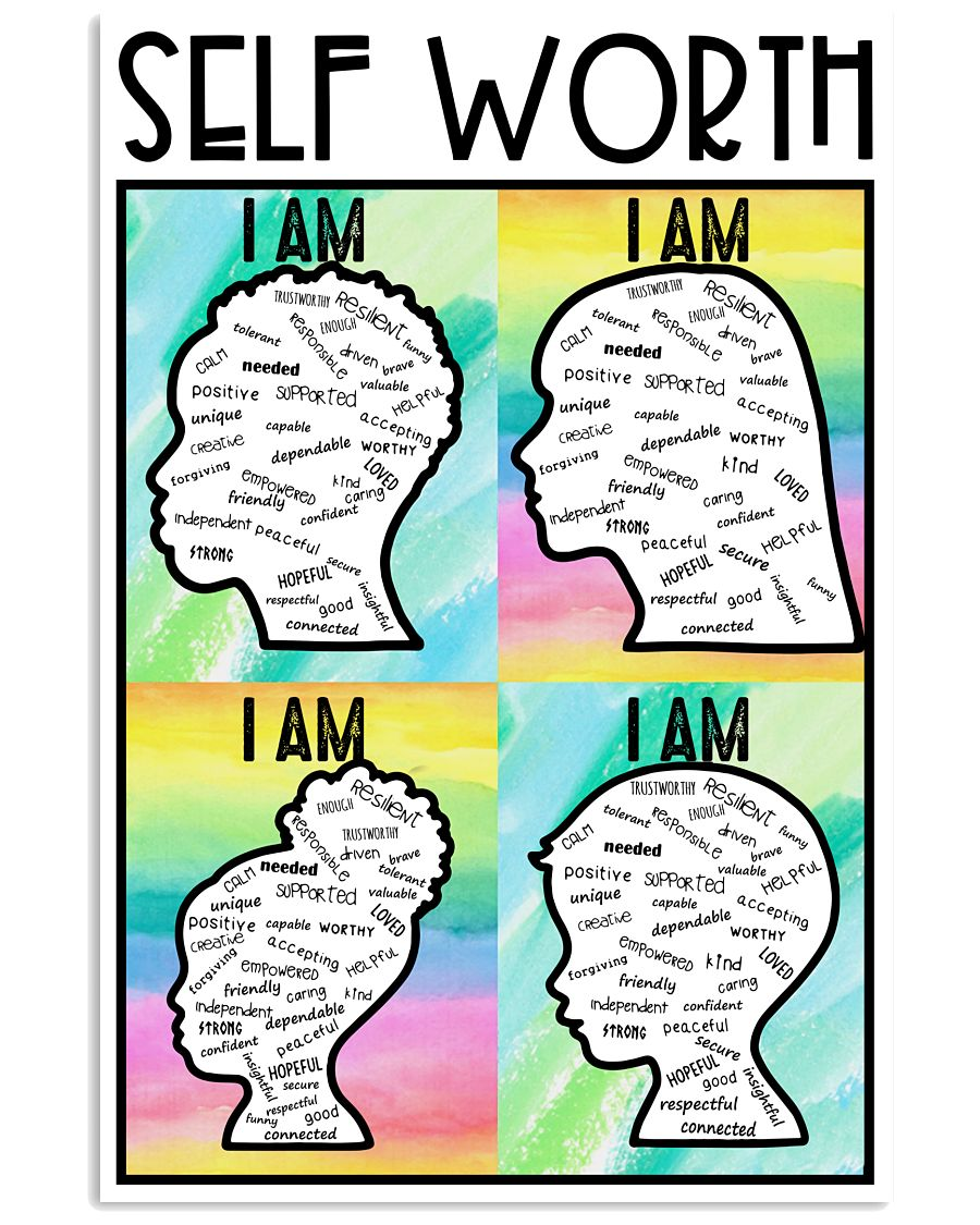 Social Worker Self Worth  11x17 Poster