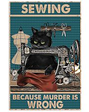 Sewing Because Murder Is Wrong 11x17 Poster front