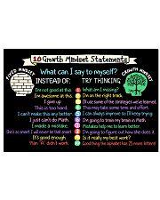 Teacher 10 Growth Mindset Statements 17x11 Poster front