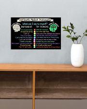 Teacher 10 Growth Mindset Statements 17x11 Poster poster-landscape-17x11-lifestyle-24