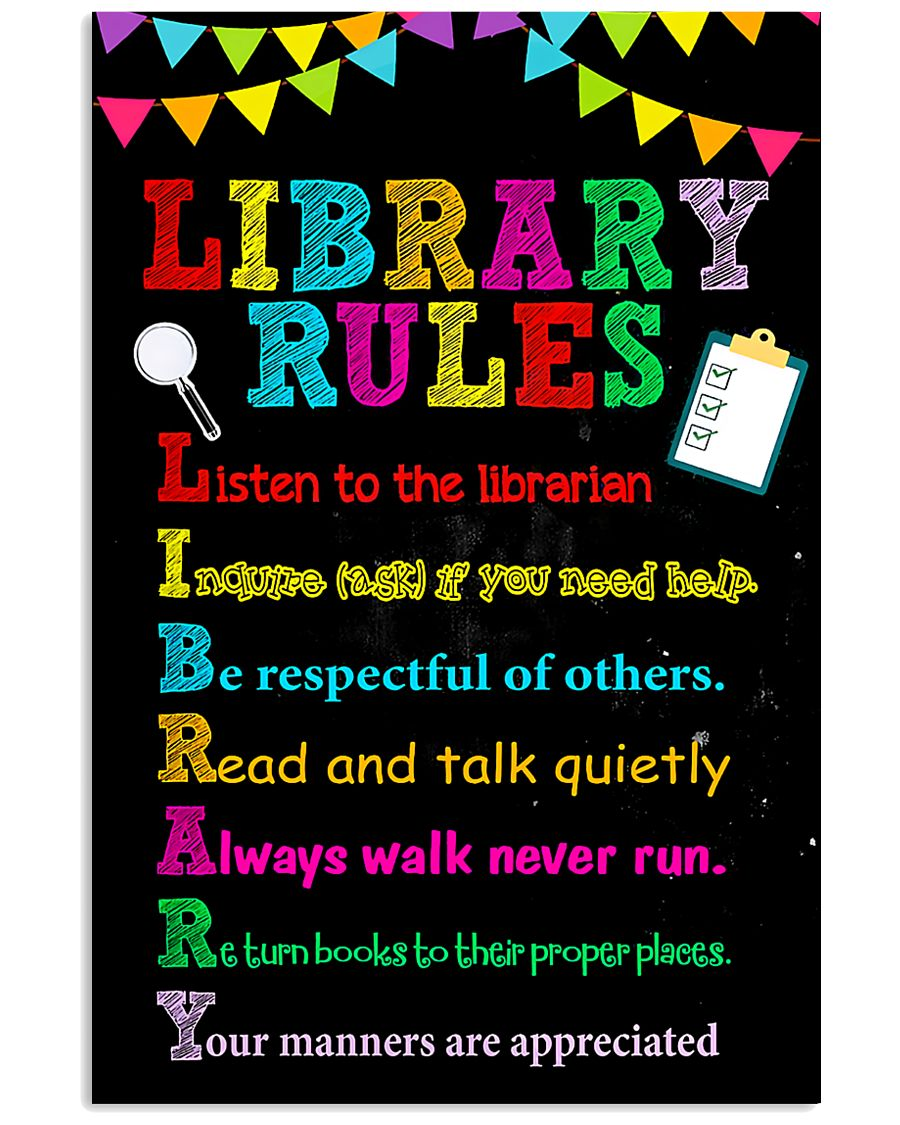 Librarian Library Rules 11x17 Poster
