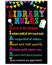 Librarian Library Rules 11x17 Poster front