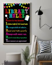 Librarian Library Rules 11x17 Poster lifestyle-poster-1