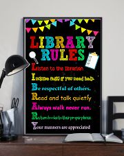 Librarian Library Rules 11x17 Poster lifestyle-poster-2