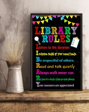 Librarian Library Rules 11x17 Poster lifestyle-poster-3