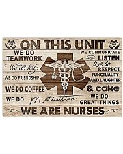 On This Unit We Are Nurses 17x11 Poster front
