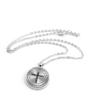 Drummer Your Talent Is God's Gift To You Metallic Circle Necklace aos-necklace-circle-metallic-lifestyle-03