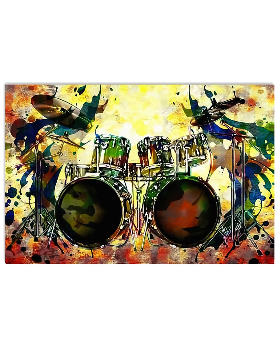 Drummer Colorful 17x11 Poster