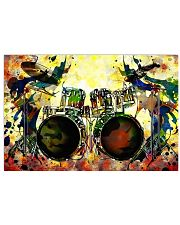 Drummer Colorful 17x11 Poster front