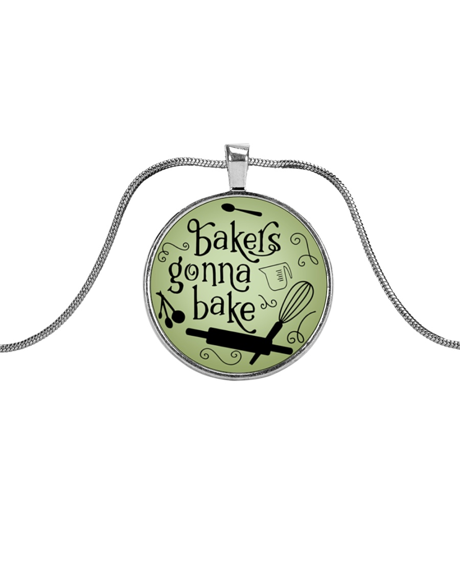 Bakers gonna bake Metallic Circle Necklace