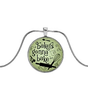 Bakers gonna bake Metallic Circle Necklace front