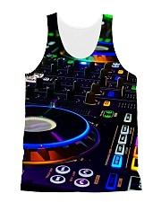 DJ Turntable All-over Unisex Tank thumbnail