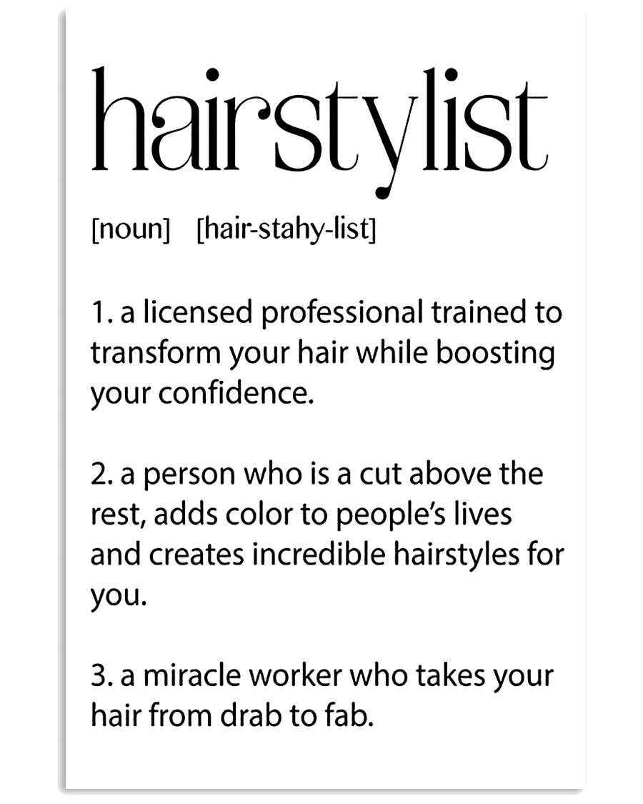 Hairstylist Definitions 11x17 Poster
