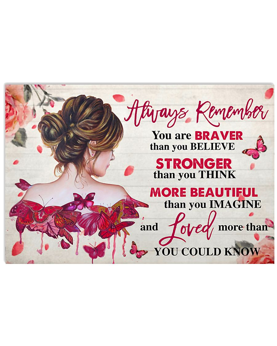 Breast Cancer Awareness Always Remember  17x11 Poster