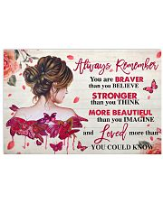 Breast Cancer Awareness Always Remember  17x11 Poster front