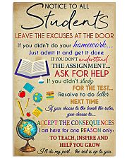 Teacher Notice To All Students 11x17 Poster front