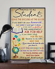 Teacher Notice To All Students 11x17 Poster lifestyle-poster-2