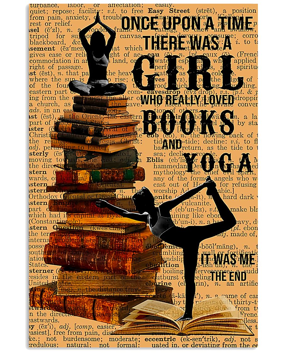 Yoga - I Love Books And Yoga 11x17 Poster