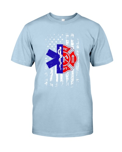 Paramedic American Flag Firefighter
