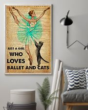 Ballet - Just A Girl Who Loves Ballet And Cats 11x17 Poster lifestyle-poster-1