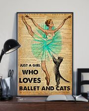 Ballet - Just A Girl Who Loves Ballet And Cats 11x17 Poster lifestyle-poster-2