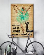 Ballet - Just A Girl Who Loves Ballet And Cats 11x17 Poster lifestyle-poster-7