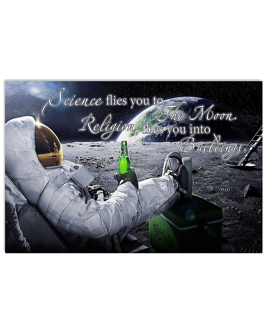 Science flies you to the moon 17x11 Poster
