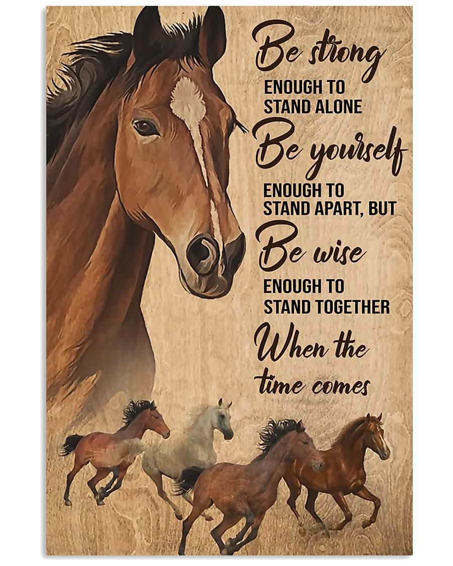 Horse Girl Be strong 11x17 Poster