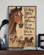 Horse Girl Be strong 11x17 Poster lifestyle-poster-2