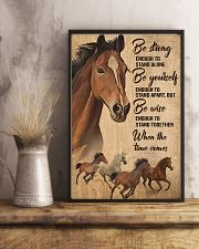 Horse Girl Be strong 11x17 Poster lifestyle-poster-3