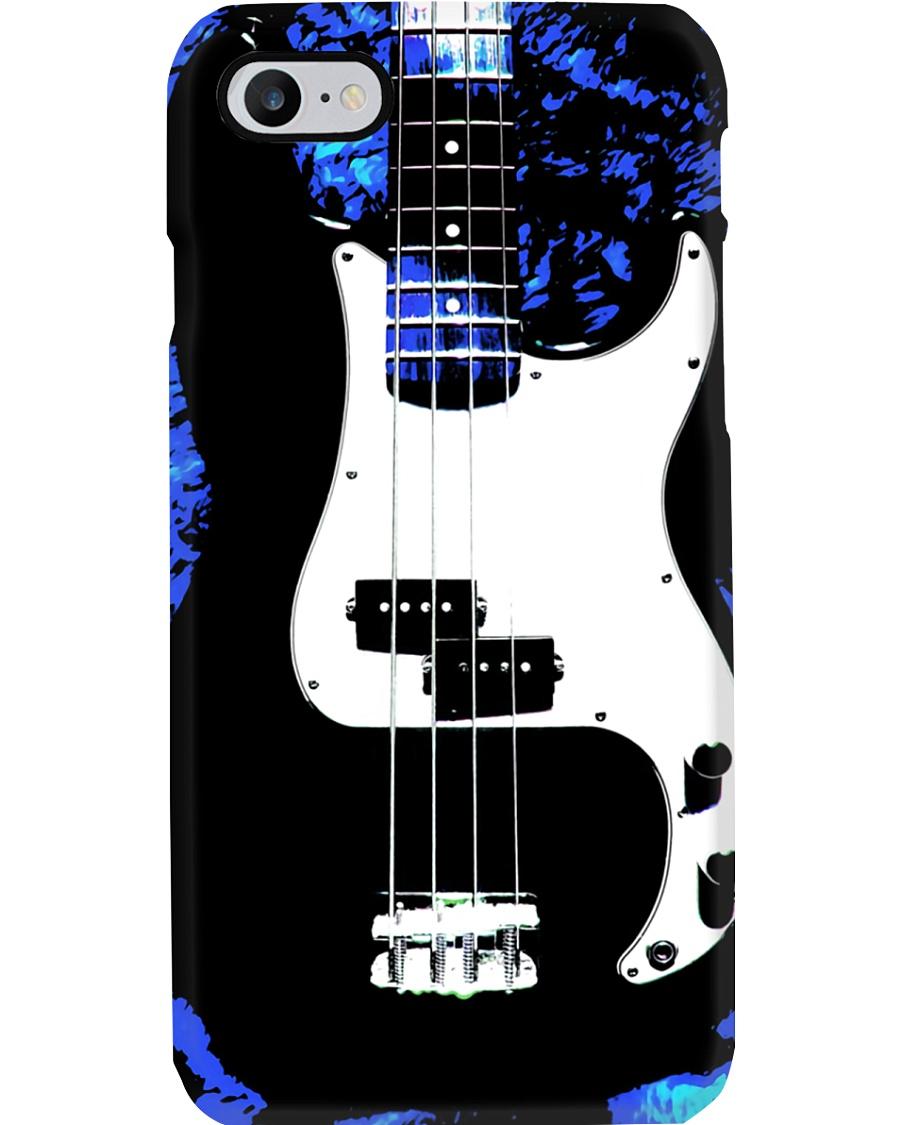 Art Blue Bass Guitar Phone Case