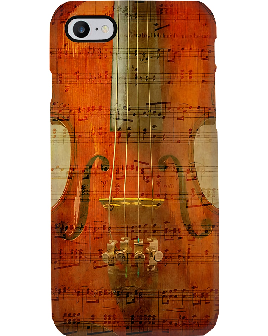 Violin on music sheet Phone Case