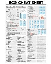 ECG Cheat Sheet Cardiologist 11x17 Poster front
