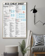 ECG Cheat Sheet Cardiologist 11x17 Poster lifestyle-poster-1