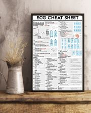 ECG Cheat Sheet Cardiologist 11x17 Poster lifestyle-poster-3