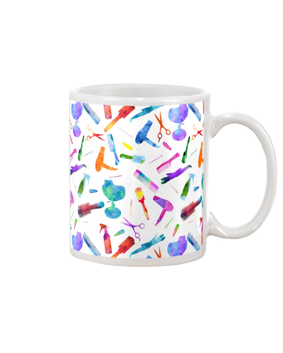 Hairdresser Colorful Icons Mug