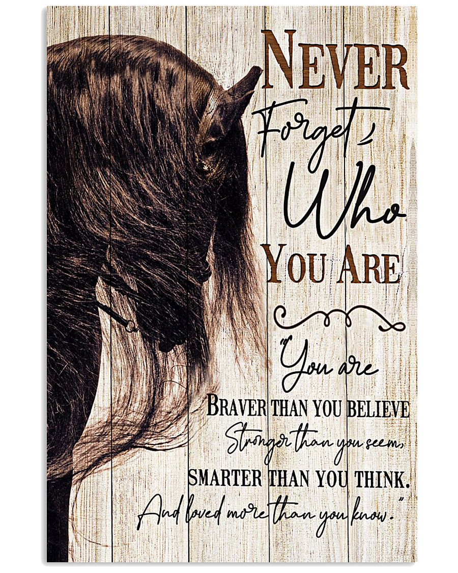 Horse Girl Never Forget Who You Are 11x17 Poster
