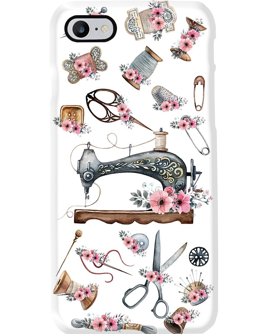 Beautiful Floral Sewing Machine Phone Case