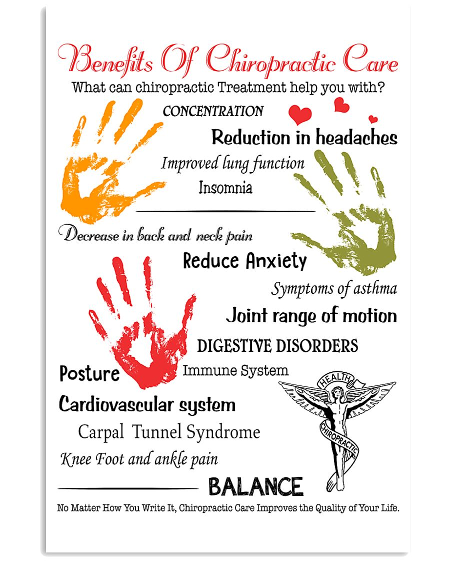 Chiropractor - Advantages Of Chiropractic Care 11x17 Poster