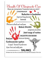 Chiropractor - Advantages Of Chiropractic Care 11x17 Poster front