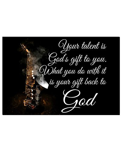 Saxophone - Your talent is God's gift to you