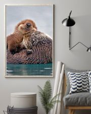 Hugging Otters Poster 16x24 Poster lifestyle-poster-1