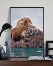 Hugging Otters Poster 16x24 Poster lifestyle-poster-2