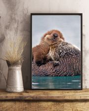 Hugging Otters Poster 16x24 Poster lifestyle-poster-3