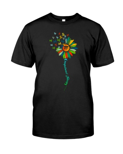 Occupational Therapist Caduceus Colorful Sunflower