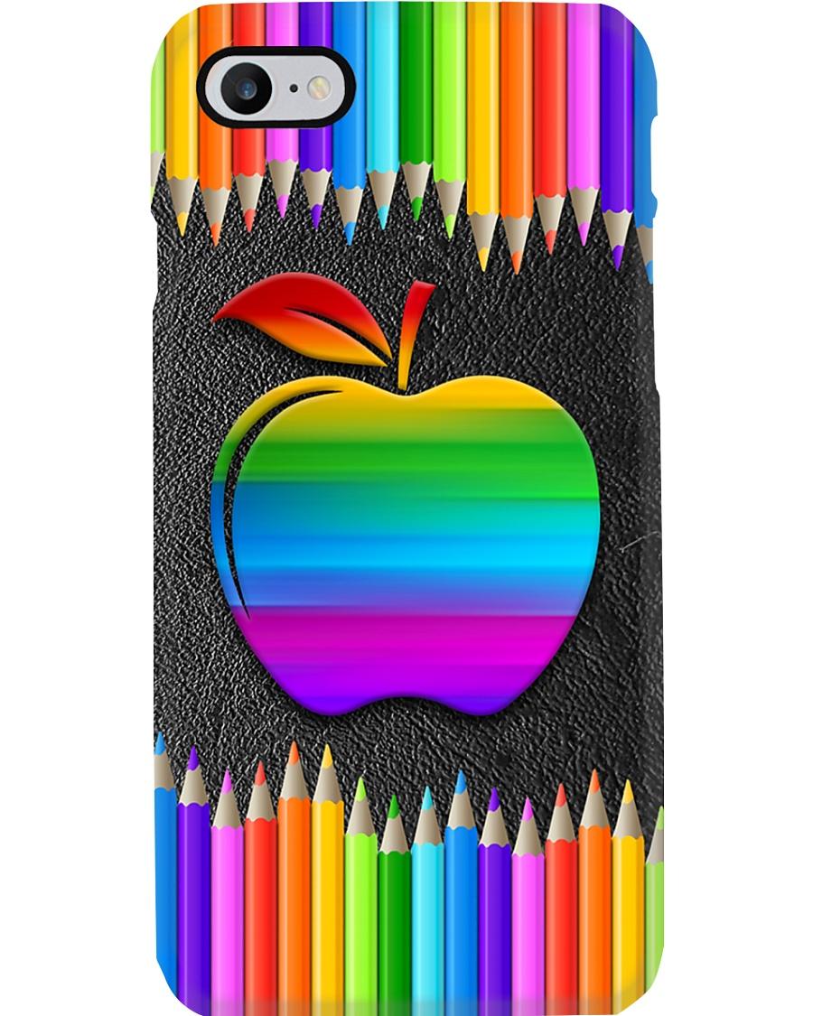 Teacher Rainbow Pencil Phone Case